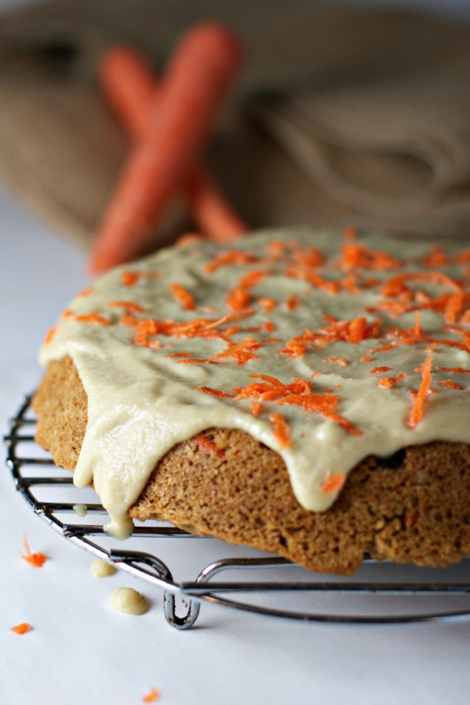 ... orange zest and topped with a maple cashew cream frosting, pure bliss
