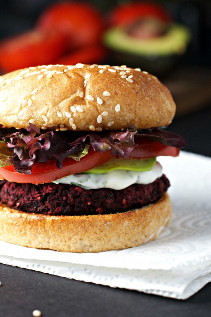 Black Bean and Beet Burgers ~vegan, gluten free~