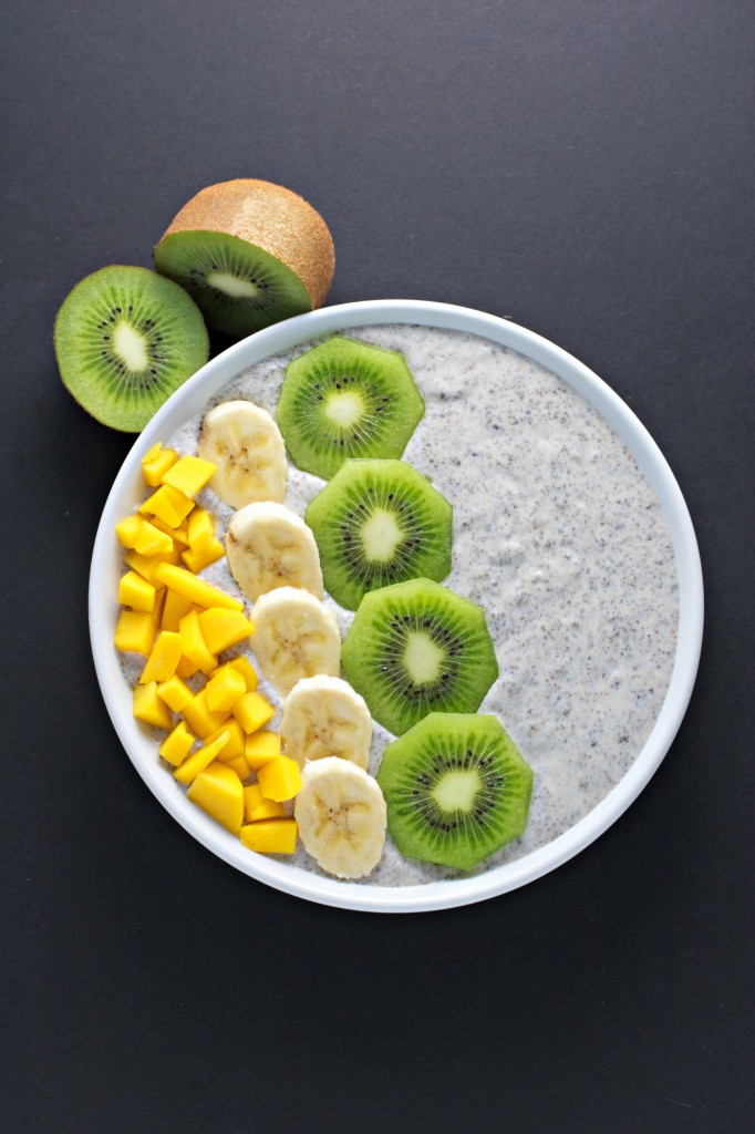 chia seed breakfast bowl is just as easy as to make as pouring a bowl ...