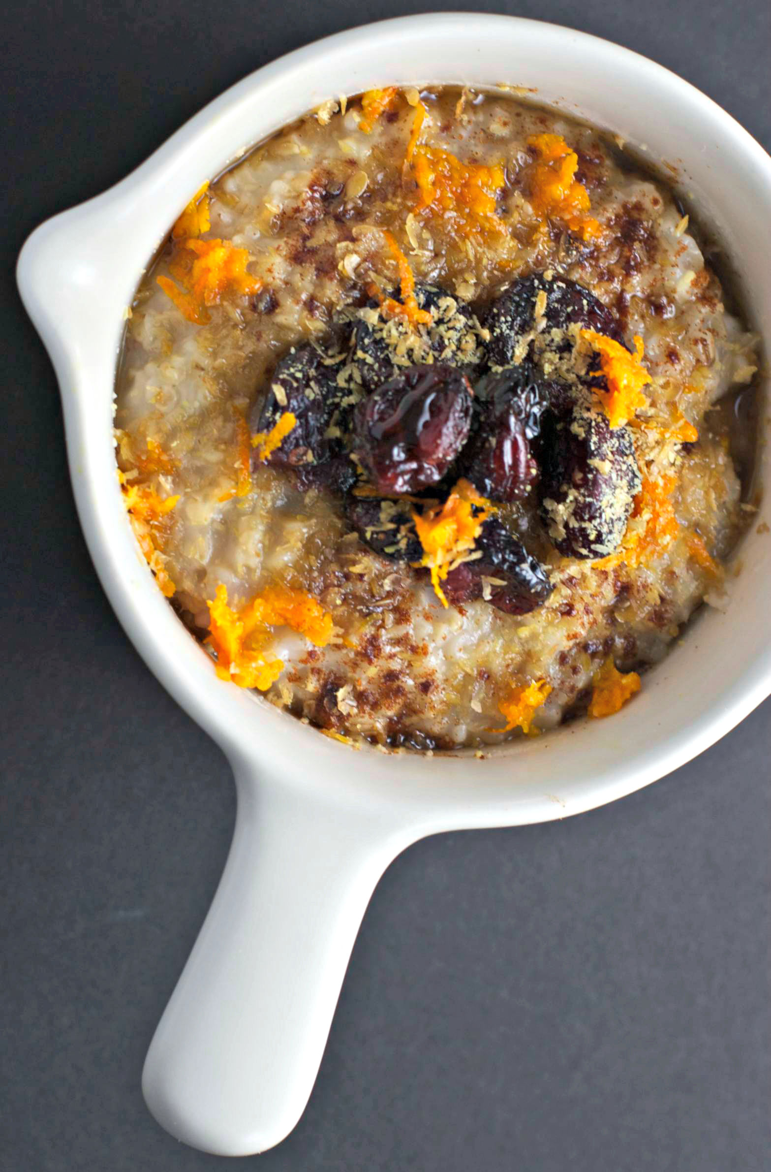 Cranberry Orange Flax Steel Cut Oats ~two ways~vegan/gluten free~