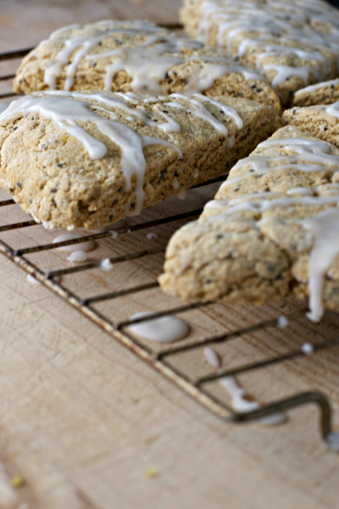 Lemon Chia Seed Scones ~vegan~