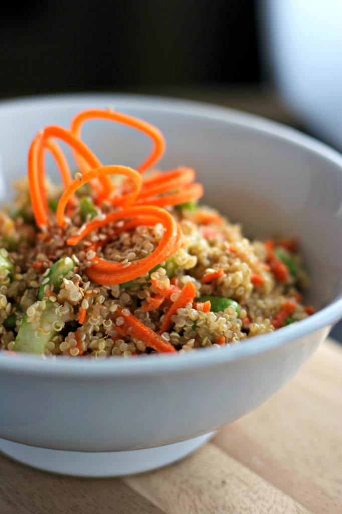 Kid-Friendly Quinoa with Ginger Sesame Dressing ~vegan, gluten free~