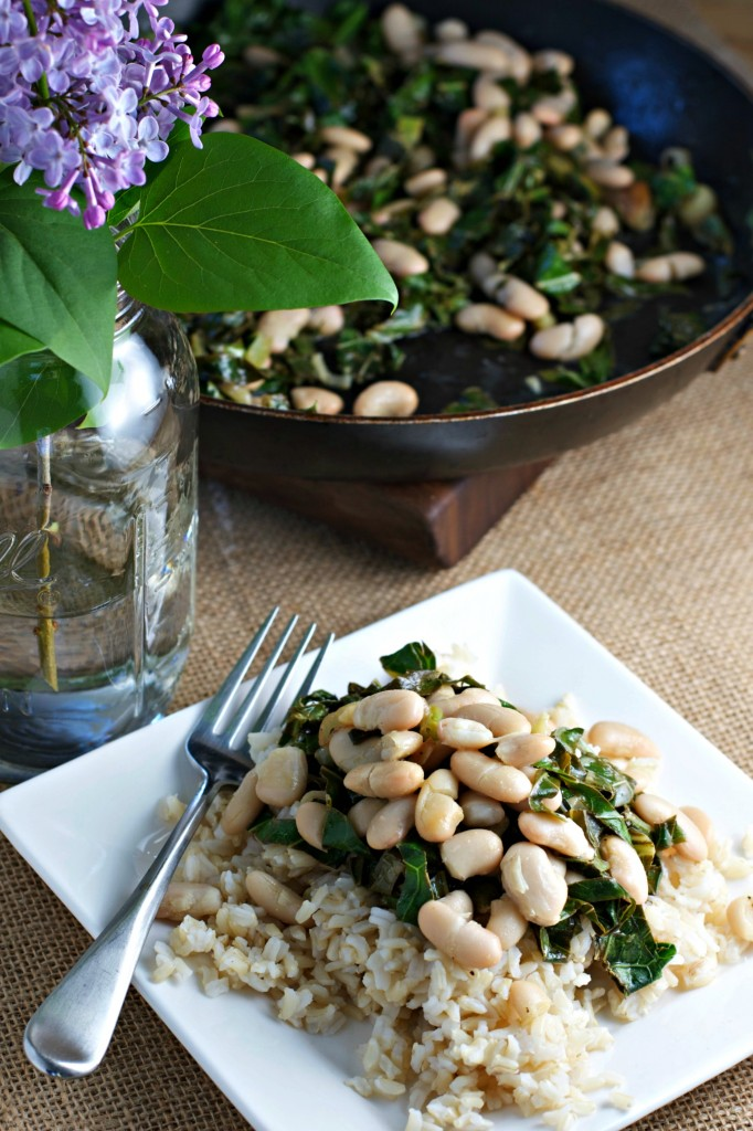 Collard Greens and Beans ~vegan, gluten free~