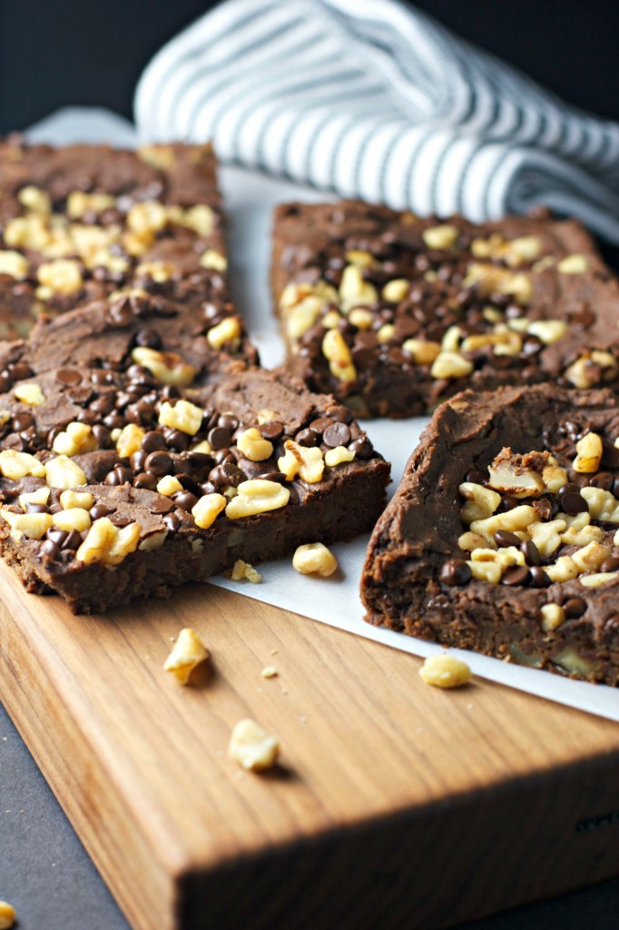 Fudge Walnut Brownies ~vegan, gluten free~  Totally healthy and made with chickpeas...Shhh, no one needs to know :)