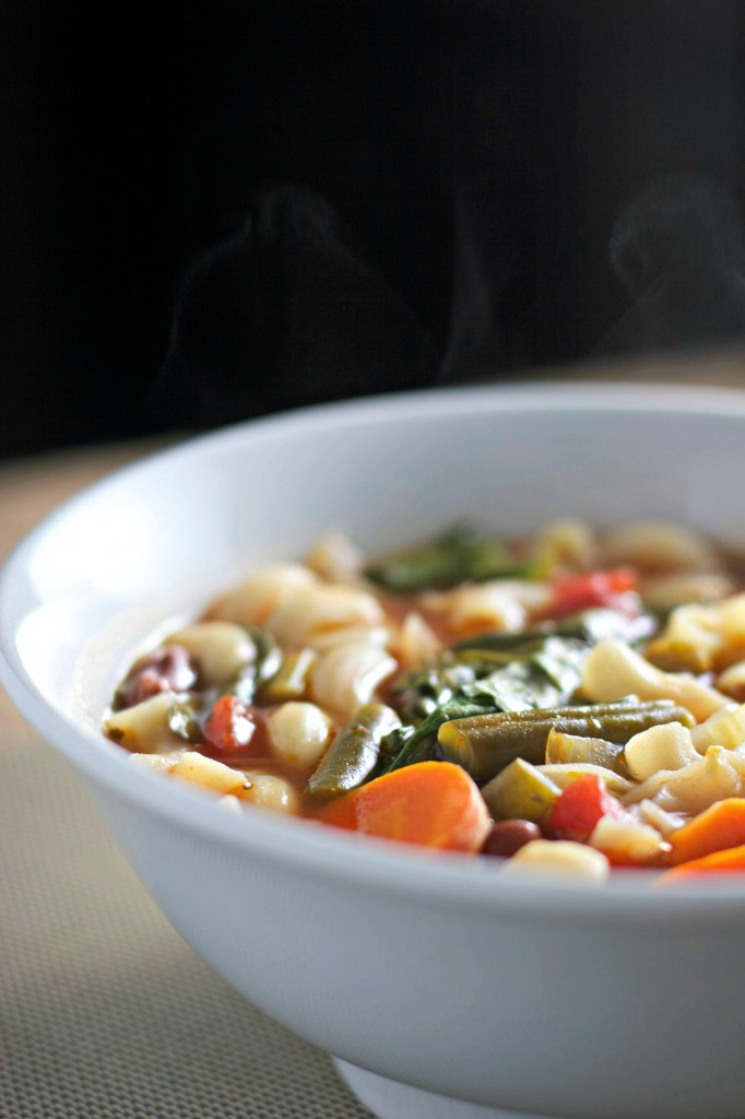 Slow down and have a bowl of Hearty Minestrone Soup ~vegan, gluten free~