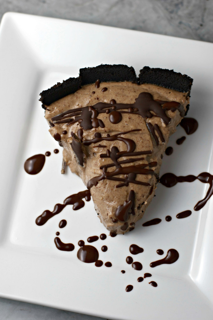 Chocolate Peanut Butter Cream Pie ~vegan~ Fluffy, silky and oh so decadent!