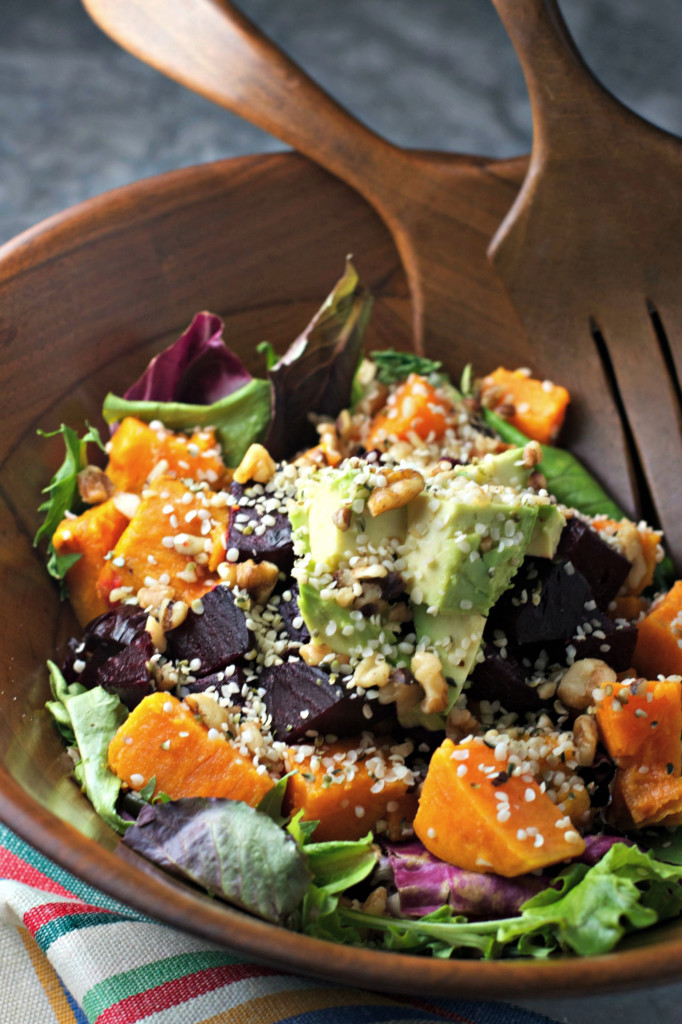 Superfoods Salad with Beets and Sweets ~plus, a list of superfoods to have on hand to turn an ordinary meal into a superfood meal!