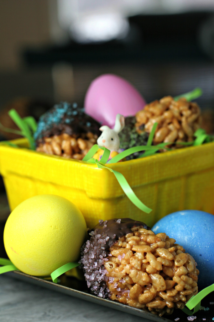 Brown Rice Crispy Easter Eggs ~vegan, gluten free~