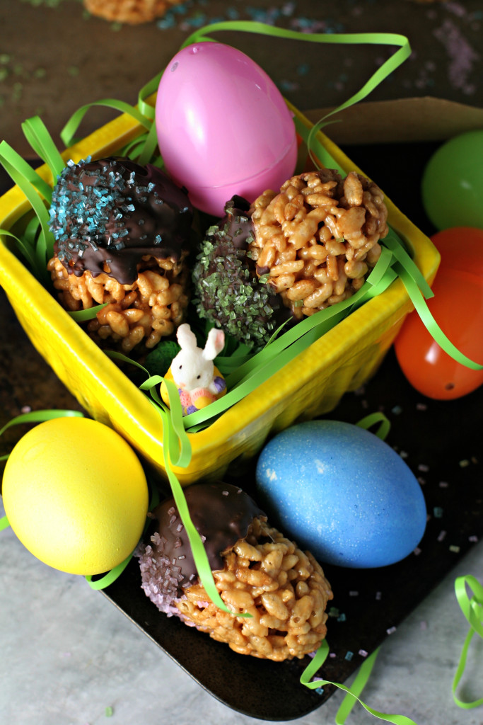 Brown Rice Crispy Treat Easter Eggs ~vegan, gluten free~