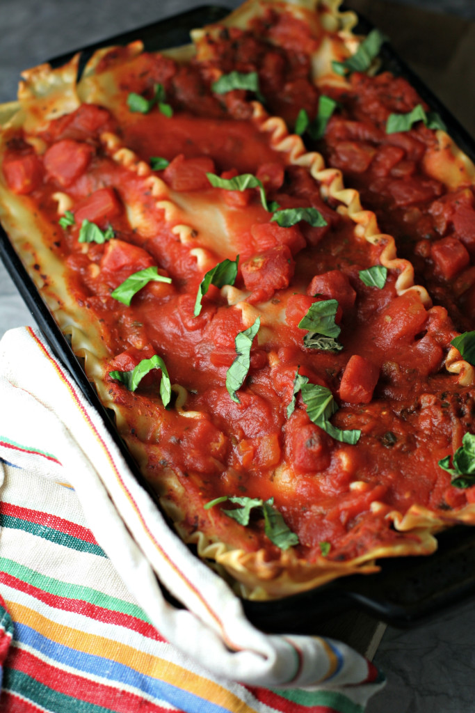 Tofu Ricotta Lasagna ~vegan~ A meatless monday meal made in under an hour!