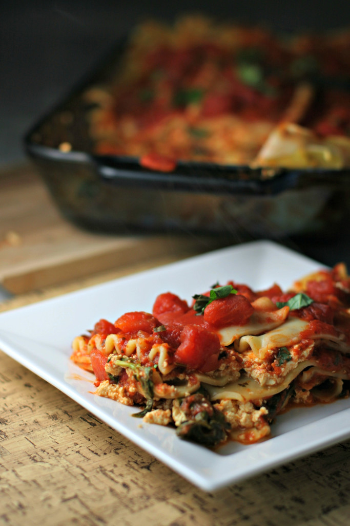 Tofu Ricotta Lasagna ~vegan~ A meatless monday meal ready in under an hour!