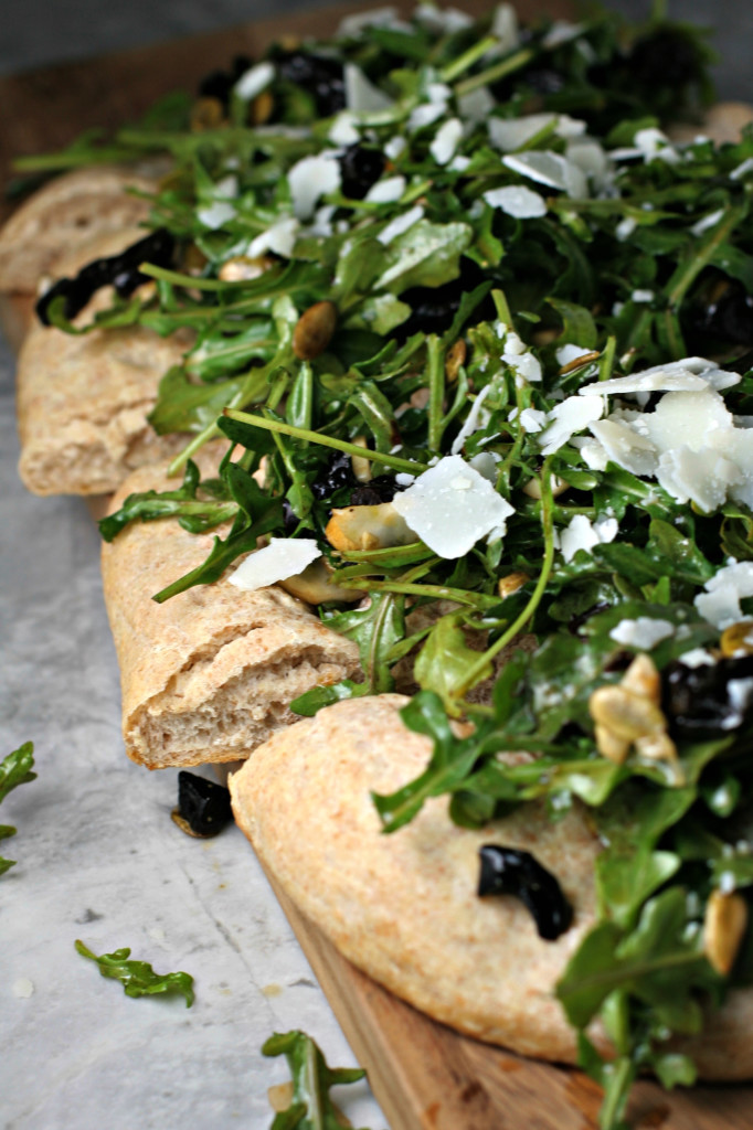 Arugula, Fennel and Dried Plum Flatbread ~vegetarian~