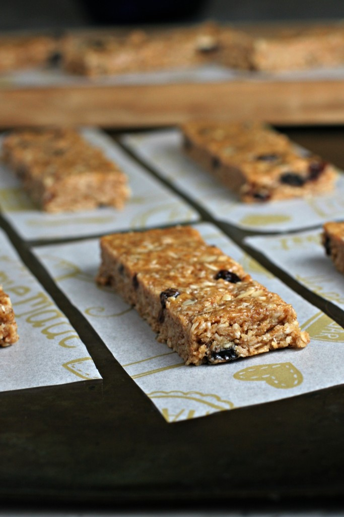 No-Bake Cinnamon Raisin Almond Butter Oat Bars. A vegan, gluten free ...