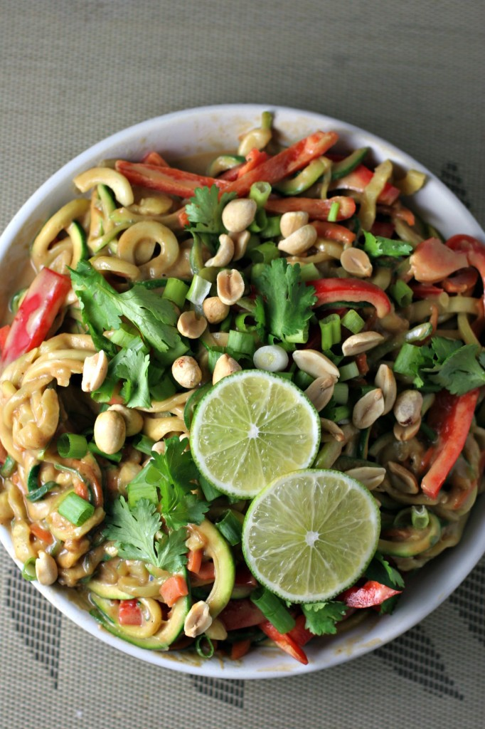 Thai Peanut Zoodles, all the flavor without all the carbs!