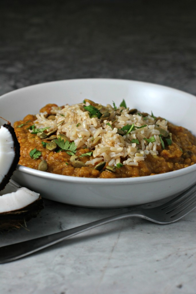 Crockpot Spiced Lentils ~vegan, gluten free~ All I A freezer meal that ...