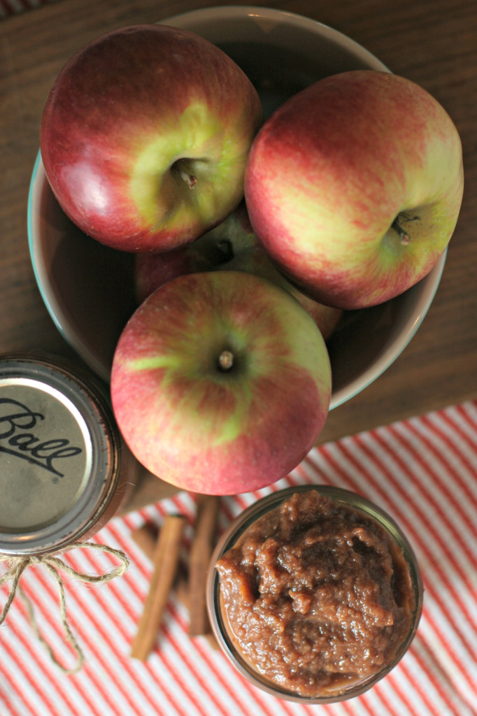 Crockpot Apple Butter ~ Sweetened with a little maple syrup and dates!