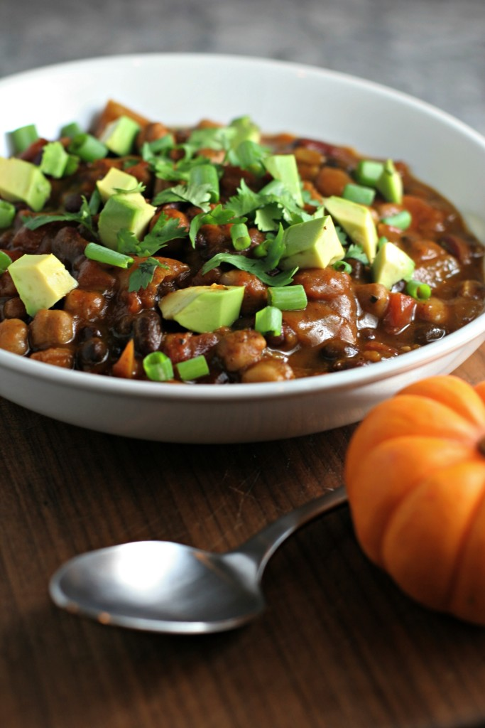 Crock Pot 3 Bean Pumpkin Chili, a true fix it and forget it meal!